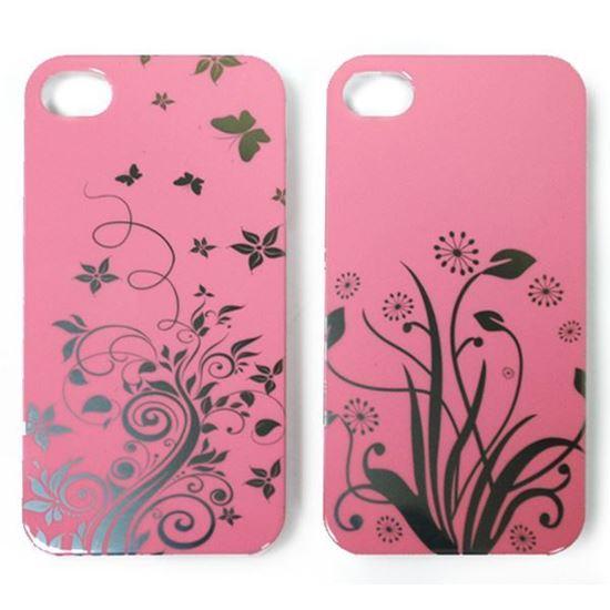 Изображение Задняя панель для iPhone 5/5S пластиковaя лаковая розовая Полевые цветы