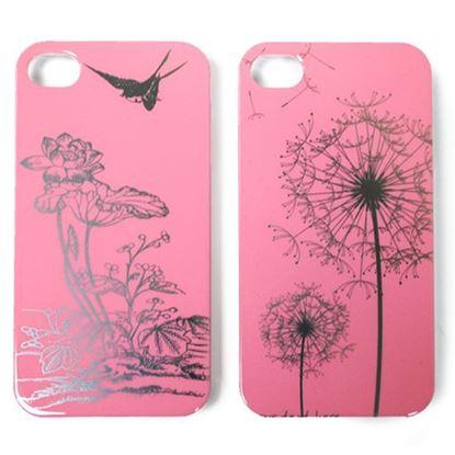 Изображение Задняя панель для iPhone 5/5S пластиковaя лаковая розовая Одуванчики