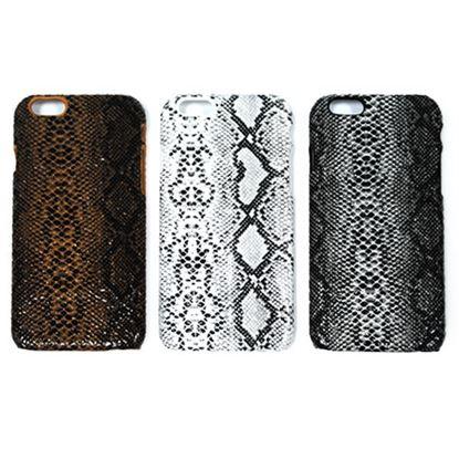 Изображение Задняя панель для iPhone 4/4S пластиковая с кожей питон коричнево-чёрная