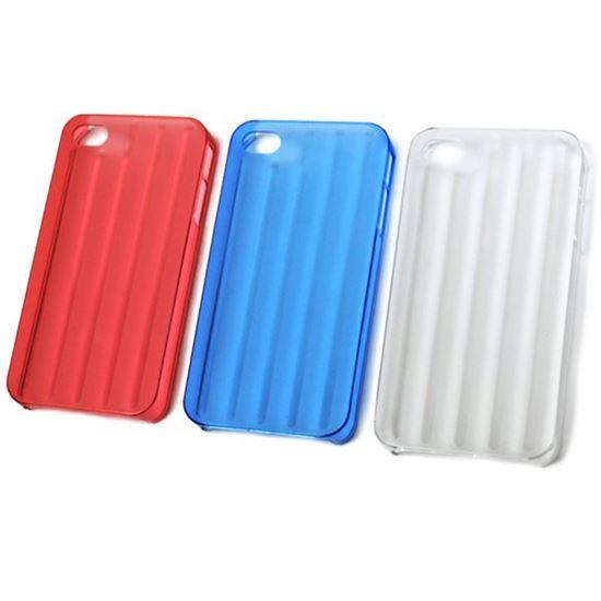 Изображение Задняя панель для Samsung i9190 Galaxy S4 Mini (твердый полосатый пластик) красная