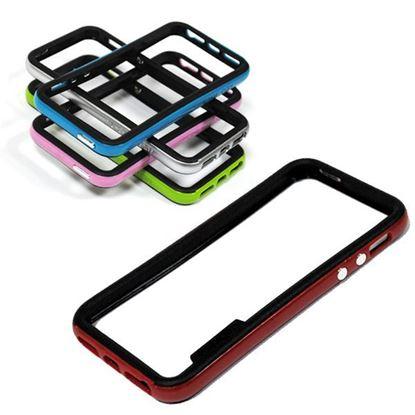 Изображение Бампер для iPhone 4/4S Spigen Neo Hybrid пластиковый с резиной чёрно-голубой