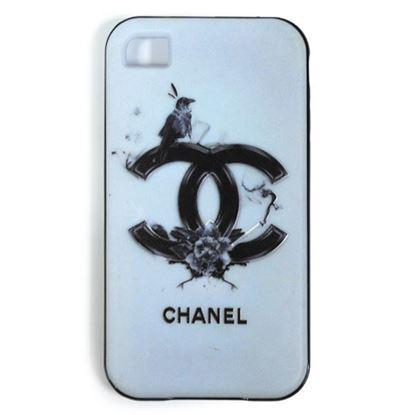 Изображение Задняя панель для iPhone 4/4S резиновая с бампером Chanel