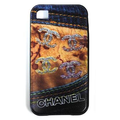 Изображение Задняя панель для iPhone 4/4S резиновая с бампером Jeans Chanel