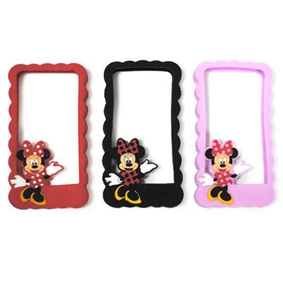 Изображение Бампер резиновый для iPhone 4/4S Minnie Mouse чёрный