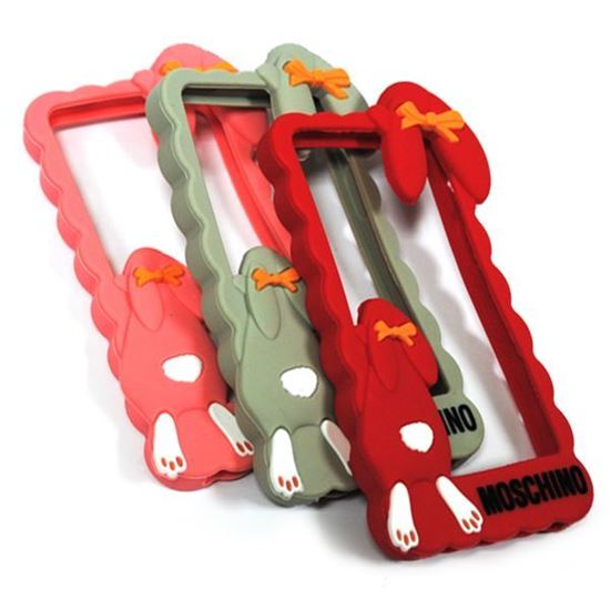 Изображение Бампер резиновый для iPhone 4/4S Кролик красный