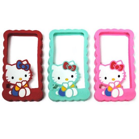 Изображение Бампер резиновый для iPhone 5/5S Hello Kitty бирюзовый