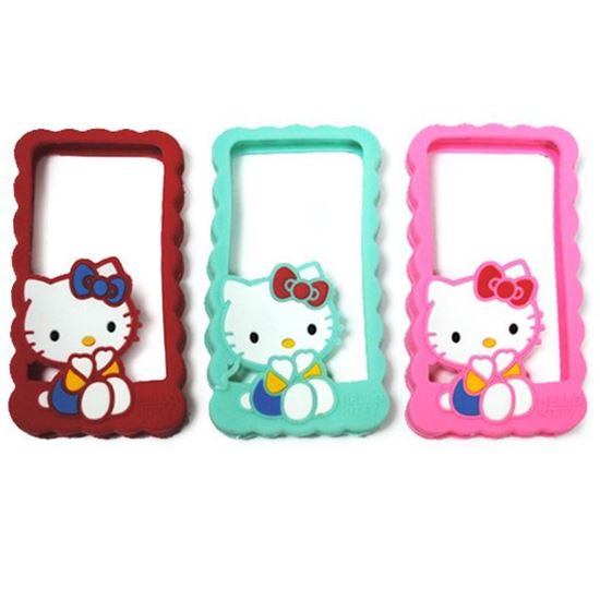Изображение Бампер резиновый для iPhone 5/5S Hello Kitty красный