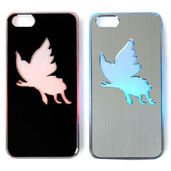 Изображение Задняя панель для iPhone 5/5S световая алюминиевая Бабочка серебристая