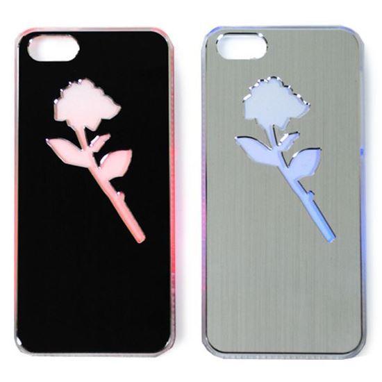 Изображение Задняя панель для iPhone 5/5S световая алюминиевая Роза черная