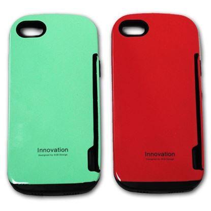 Изображение Задняя панель для iPhone 4/4S iFace Innovation пластиковaя с резиновыми краями красная