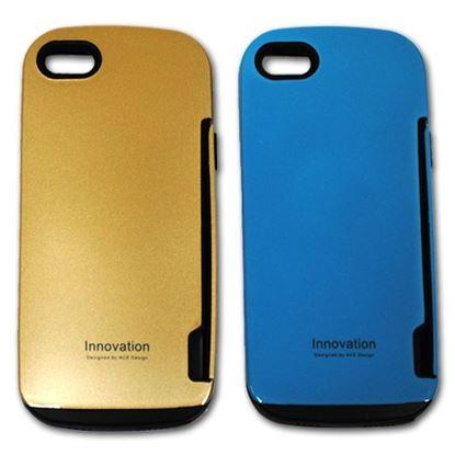 Изображение Задняя панель для iPhone 5/5S iFace Innovation пластиковaя с резиновыми краями голубая