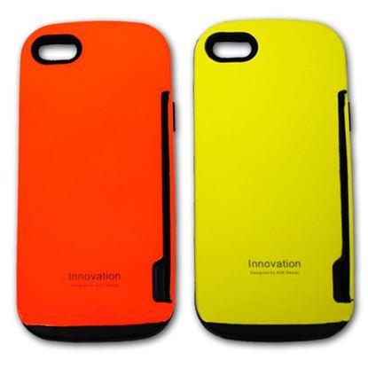 Изображение Задняя панель для iPhone 5/5S iFace Innovation пластиковaя с резиновыми краями жёлтая