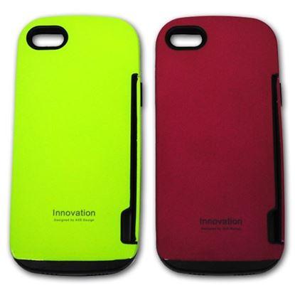 Изображение Задняя панель для iPhone 5/5S iFace Innovation пластиковaя с резиновыми краями розовая