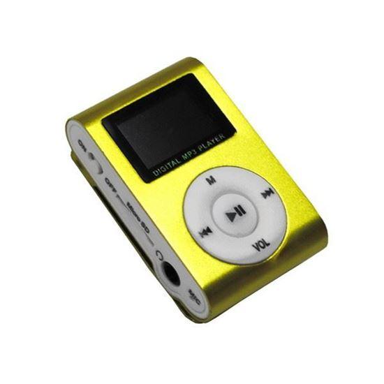Изображение MР3 плеер RK-305 (дисплей, трек, слот microSD, прищепка) золотистый