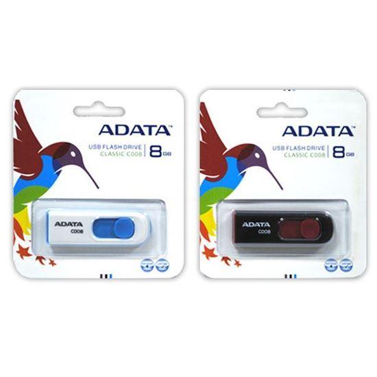 Изображение USB накопитель ADATA 8Gb бело-голубой