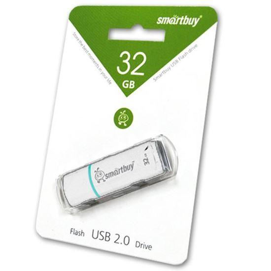 Изображение USB накопитель Smart Buy 32Gb Crown белый