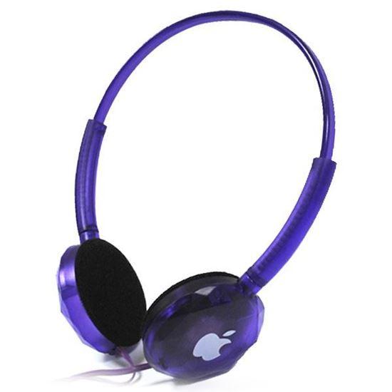 Изображение Гарнитура накладная iPhone MS-168 (MP3, iPod, iPhone, Samsung) в блистере фиолетовая