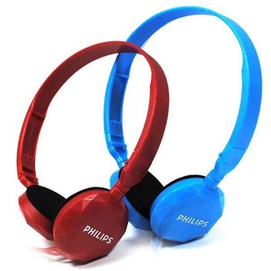 Изображение Гарнитура накладная PHILIPS MS-165 (MP3, iPod, iPhone, Samsung) в блистере голубая