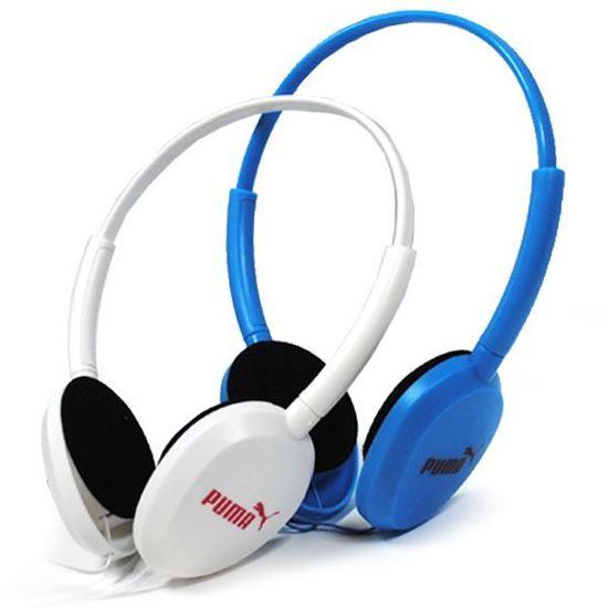 Изображение Гарнитура накладная PUMA MS-169 (MP3, iPod, iPhone, Samsung) в блистере голубая