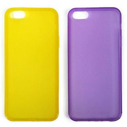 Изображение Задняя панель i-Best для iPhone 4/4S (тонкий силикон) матовая жёлтая