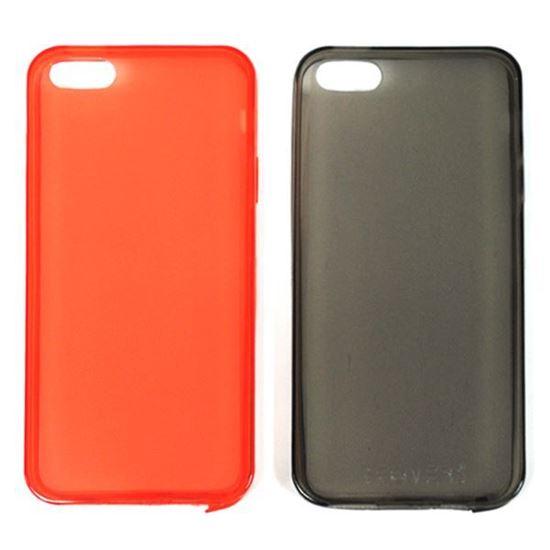 Изображение Задняя панель i-Best для iPhone 5/5S (тонкий силикон) матовая красная