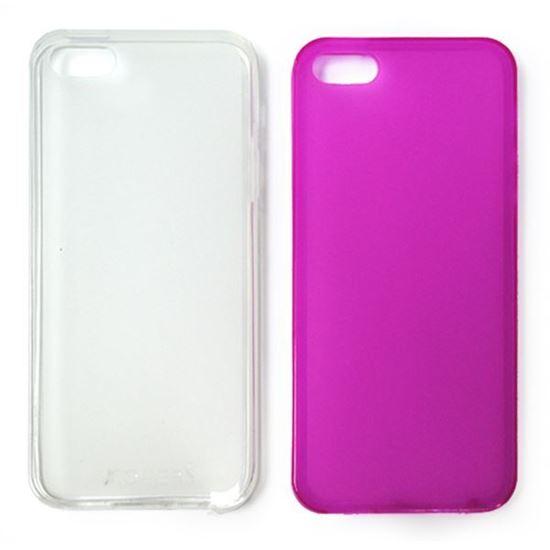 Изображение Задняя панель i-Best для iPhone 5/5S (тонкий силикон) матовая малиновая
