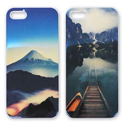 Изображение Задняя панель для iPhone 4/4S силикон лаковый Горное озеро