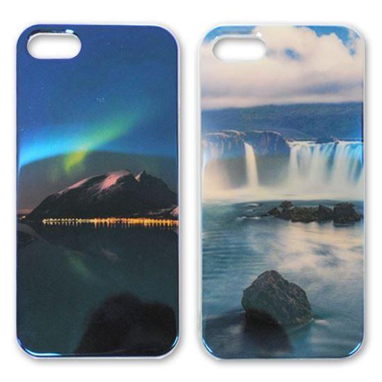 Изображение Задняя панель для iPhone 4/4S силикон лаковый Северное сияние