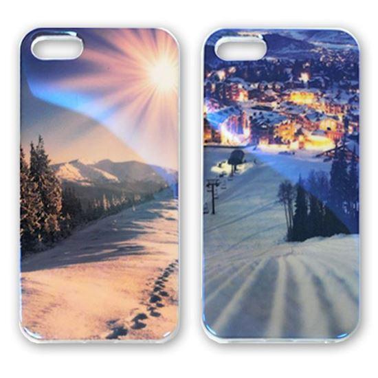 Изображение Задняя панель для iPhone 4/4S силикон лаковый Следы на снегу