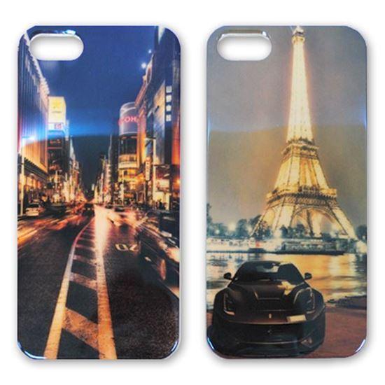 Изображение Задняя панель для iPhone 4/4S силикон лаковый Улица