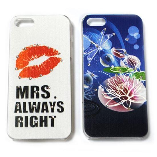 Изображение Задняя панель для iPhone 5/5S пластиковая матовая со стразами Mrs. always right