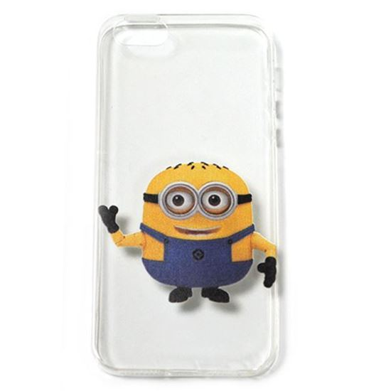 Изображение Задняя панель для iPhone 5/5S силиконовая Миньоны №10