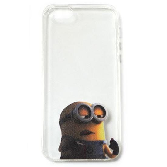 Изображение Задняя панель для iPhone 5/5S силиконовая Миньоны № 2