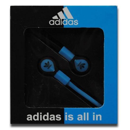 Изображение Наушники вакуумные Adidas AD-8 (MP3, CD, iPod, iPhone, iPad) в коробке голубые
