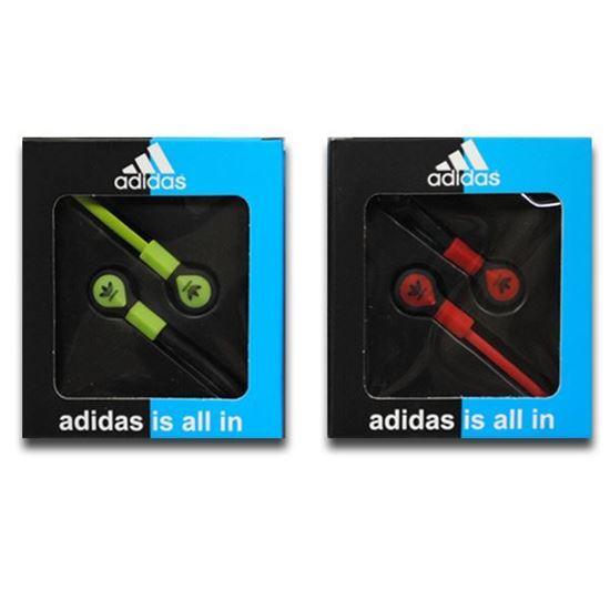 Изображение Наушники вакуумные Adidas AD-8 (MP3, CD, iPod, iPhone, iPad) в коробке красные