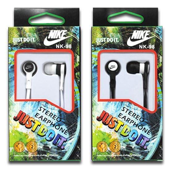 Изображение Наушники вакуумные Nike NK-98 (MP3, CD, iPod, iPhone, iPad) в коробке белые