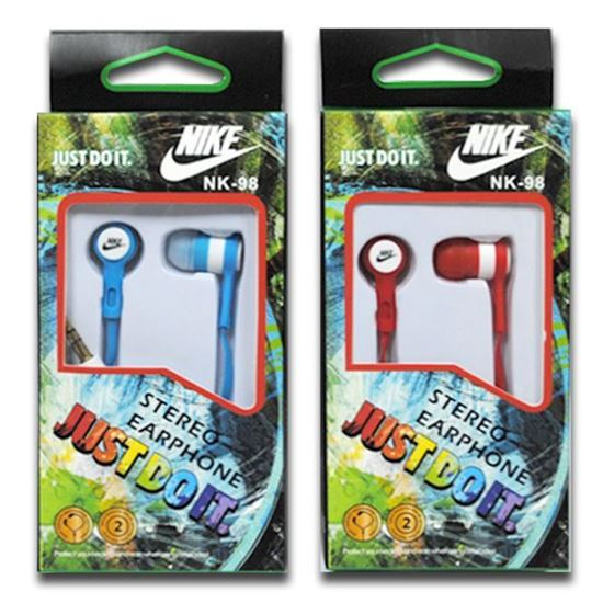 Изображение Наушники вакуумные Nike NK-98 (MP3, CD, iPod, iPhone, iPad) в коробке голубые