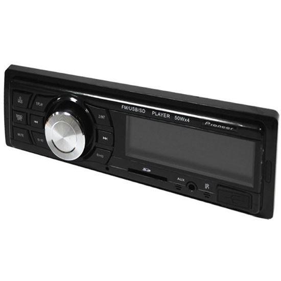 Изображение Автомагнитола PION-R 256 (1 DIN, USB, SD, 25W*2, AUX, цветной дисплей) чёрная