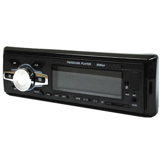 Изображение Автомагнитола PION-R 504 (1 DIN, USB, SD, 45W*4, AUX, цветной дисплей) чёрная