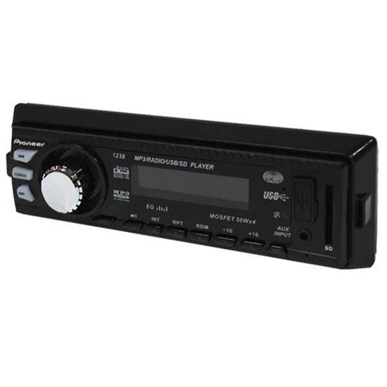 Изображение Автомагнитола PION-R 513 (1 DIN, USB, SD, 45W*4, AUX, цветной дисплей) чёрная