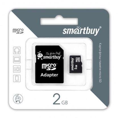 Изображение Micro SD  Smart Buy 2GB( с адаптером SD)
