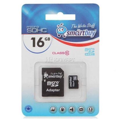Изображение Micro SD Smart Buy 16GB( с адаптером SD)