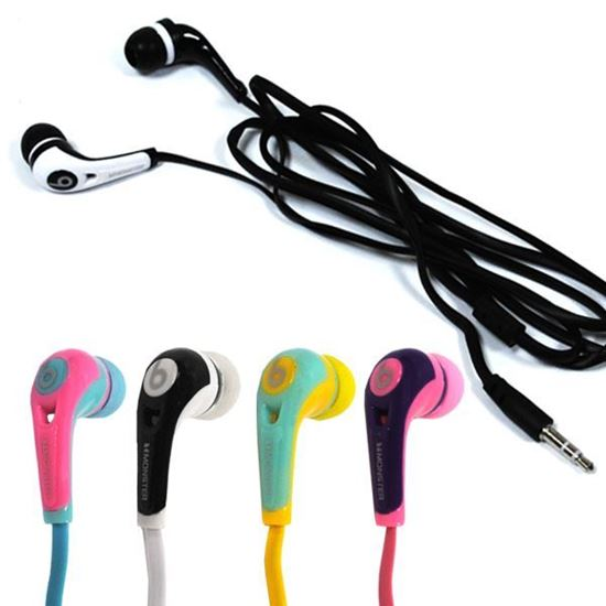 Изображение Наушники вакуумные Monster Beats № 3 (MP3, CD, iPod, iPhone) в пакете розовые