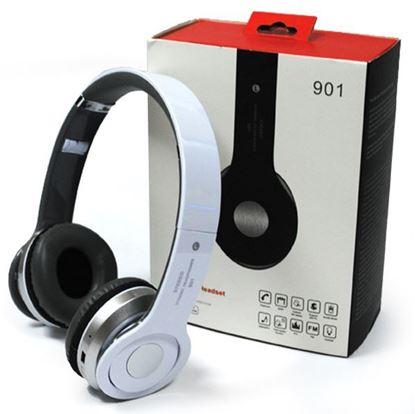 Изображение MP3 плеер-стереонаушники накладные 901 (FM, TF MicroSD)