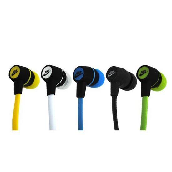 Изображение Наушники вакуумные Nike NK-18 (MP3, CD, iPod, iPhone, iPad) в пакете жёлтые