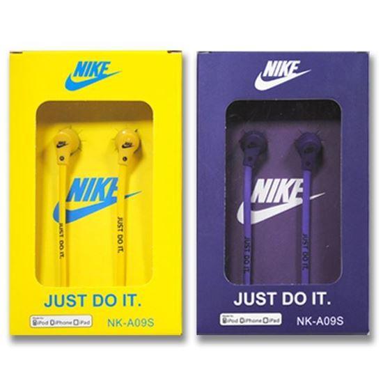 Изображение Наушники вакуумные Nike NK-A09S (MP3, CD, iPod, iPhone, iPad) в коробке жёлтые