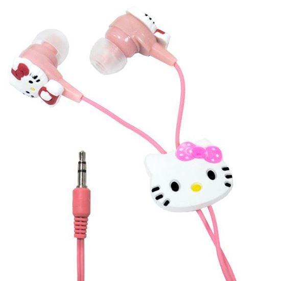 Изображение Нaушники вакуумные для MP3 в большой коробочке Hello Kitty
