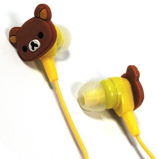 Изображение Нaушники вакуумные для MP3 в маленькой коробочке Медвежонок Rilakkuma