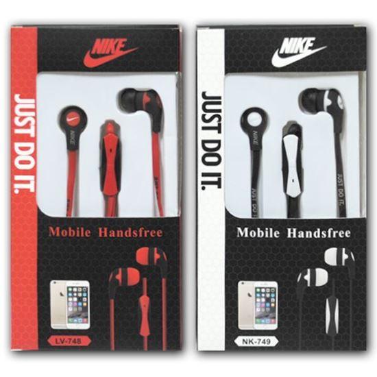 Изображение HF гарнитура вакуумная Nike LV-748 (Pod, iPhone, Samsung) в коробочке