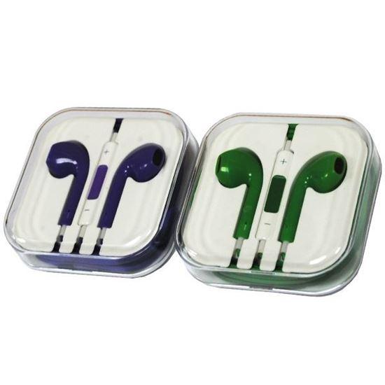 Изображение HF гарнитура под оригинал для iPhone 5/5S/5C в пластмассовой коробочке